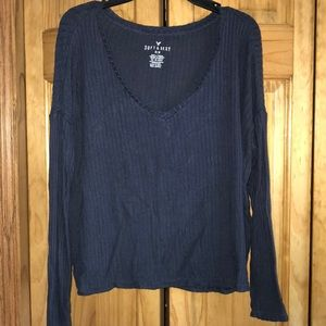 AEO soft & sexy navy sweater